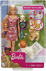 Set de joaca Barbie Gama Family - Papusi cu catelusi