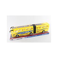 Autobuz cu burduf, 14x49.5x11 cm, plastic, Galben