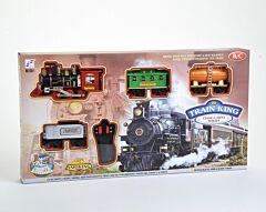 Set trenuri cu sunete si lumini, R/C, 29.5x55x6.5 cm, plastic, Multicolor