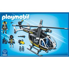 Jucarie Playmobil Tactical Police Unit - Elicopterul echipei SWAT