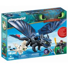Jucarie Playmobil Dragons III - Hiccup, Toothless si pui de dragon