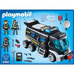 Jucarie Playmobil Tactical Police Unit - Camionul echipei SWAT