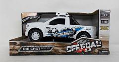 Camioneta cu sunete si lumini, 12x26x12 cm, plastic, Alb