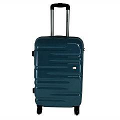Troler mediu cu lacat TSA, 4 roti, ABS/PC, 62x41x26 cm, Verde