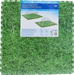 Covorul imitatie iarba pentru protectia piscinei Carrefour, 81x81x1 cm, Verde