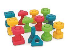 Set piulite cu suruburi, 4 modele, plastic, Multicolor