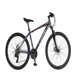 "Bicicleta MTB-HT 26"" CARPAT MONTANA C2670C, cadru aluminiu, SHIMANO 21 viteze, culoare gri/rosu"