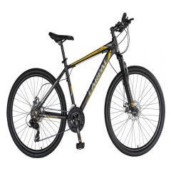 "Bicicleta MTB-HT 26"" CARPAT MONTANA C2670C, cadru aluminiu, SHIMANO 21 viteze, culoarenegru/galben"