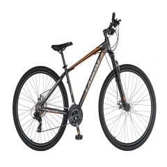 "Bicicleta MTB-HT 29"" CARPAT MONTANA C2970C, cadru aluminiu, SHIMANO 21 viteze, culoare negru/portocaliu"