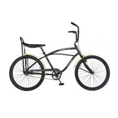 """Bicicleta CITY 26"""" CARPAT LIBERTA C2693A, cadru barbat, culoare negru/crem"""