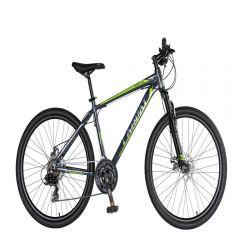 "Bicicleta MTB-HT 26"" CARPAT MONTANA C2670C, cadru aluminiu, SHIMANO 21 viteze, culoare gri/verde"