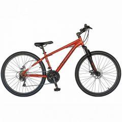 "Bicicleta de munte VELORS V2410A, roata 24"", frana disc, 21 viteze, rosu/alb"