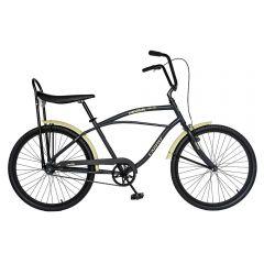"Bicicleta CITY 26"" CARPAT LIBERTA C2693A, cadru barbat, culoare gri/crem"