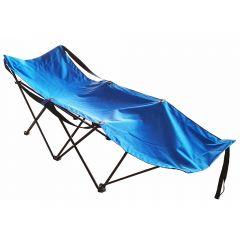 Pat pliabil campare,180x60x45/100kg, Albastru