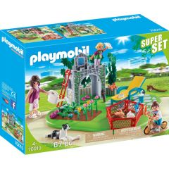 Jucarie Playmobil Super set - Gradina familiei, plastic, 34.8 x 24.8 x 9.5 cm, Multicolor