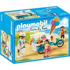 Jucarie Playmobil Aparat de inghetata mobil, 18.7 x 14.2 x 7.2 cm, plastic, Multicolor
