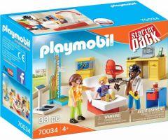 Jucarie Playmobil Set cabinetul pediatrului, plastic, 18.7 x 14.2 x 7.2 cm, Multicolor
