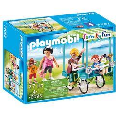 Jucarie Playmobil Bicicleta de familie, plastic, 18.7 x 14.2 x 7.2 cm, Multicolor