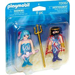 Jucarie Playmobil Set 2 figurine Regele marii si sirena, plastic, 15 x 15 x 4 cm, Multicolor