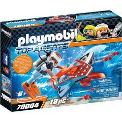 Jucarie Playmobil Spion cu propulsor subacvatic, plastic, 18.7 x 14.2 x 4.7 cm, Multicolor