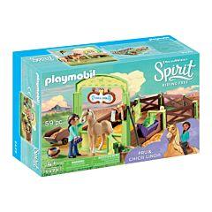 Jucarie Playmobil Spatiu ingrijire cai - Linda, plastic, 28.2 x 18.6 x 9.2 cm, Multicolor