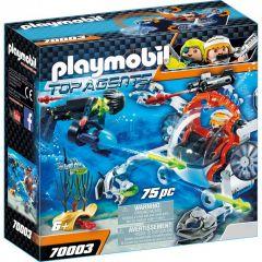 Jucarie Playmobil Echipa de spioni cu submarin, plastic, 18.7 x 18.7 x 7.2 cm, Multicolor