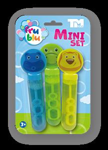 Set 3 mini lansatoare pentru baloane de sapun Fru Blu