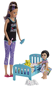 Set de joaca papusi Barbie Gama Family - Mergem la nani