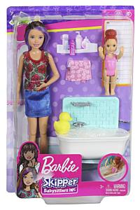 Set de joaca papusi Barbie Gama Family - Facem baita