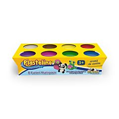 Pasta de modelat 8 culori Plastelino