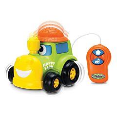 Tractor cu telecomanda, plastic, Multicolor