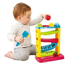 Jucarie pentru bebelusi cu ciocan si 4 mingi colorate, plastic, Multicolor