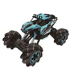 Masina de cascadorii, frecventa 2.4 G, plastic, Albastru/Negru