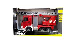 Masina de pompieri, 1:20, plastic, Rosu