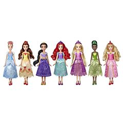 Set 7 papusi printese Disney, plastic/textil, Multicolor