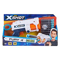 Set pistol cu 16 accesorii X-Shot Darts, plastic, Albastru/Negru