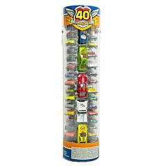Set 40 masinute in tub de plastic, 1:64, Multicolor