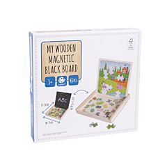 Puzzle lemn cu magneti, 48 piese, Multicolor