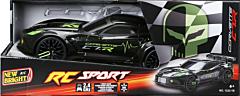 Masina Corvette sport, cu R/C, 1:12, plastic/metal, Negru