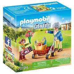 Jucarie Playmobil Bunica si fetita, plastic, 14.2 x 14.2 x 4.1 cm, Multicolor