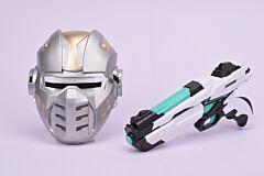 Pistol spatial cu masca, plastic, Multicolor