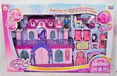 Castel cu mobilier si accesorii, plastic, Multicolor