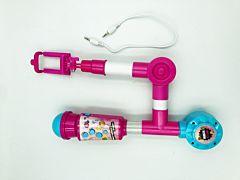 Microfon cu selfie stick, plastic, Multicolor