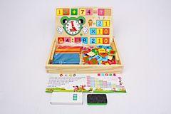 Joc educativ multifunctional, lemn, Multicolor