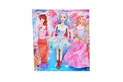 Papusa cu aripi si rochite, plastic, 33 cm, Multicolor
