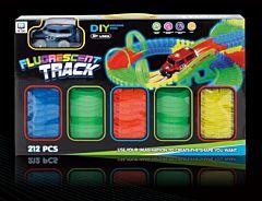 Circuit fluorescent, 212 piese, 25x41x7 cm, plastic, Multicolor