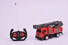 Masina de pompieri cu scara si R/C, plastic, Multicolor