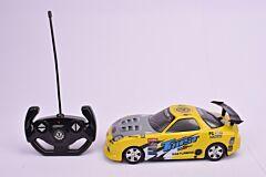Masina de curse cu R/C, 1:16, plastic, Galben
