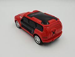 Masina cu R/C si lumini 3D, 1:18, plastic, Rosu