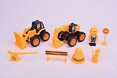 Set 2 utilitare cu accesorii, plastic, Multicolor